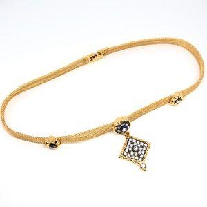 🆕Avon Gold Mesh & Rhinestone Collar Necklace